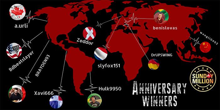 Победители PokerStars Sunday Million 14th Anniversary 2020.